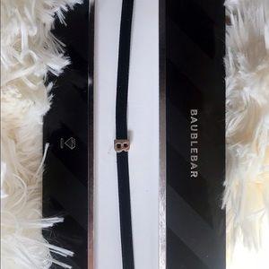 Black Velvet Choker w/ silver personalized initial